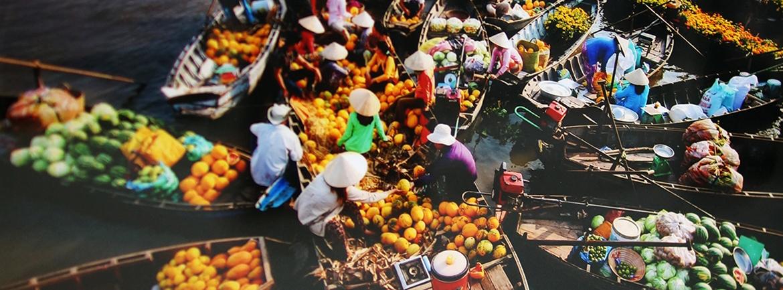 Marche flottant a Can Tho - Lua Viet Tours